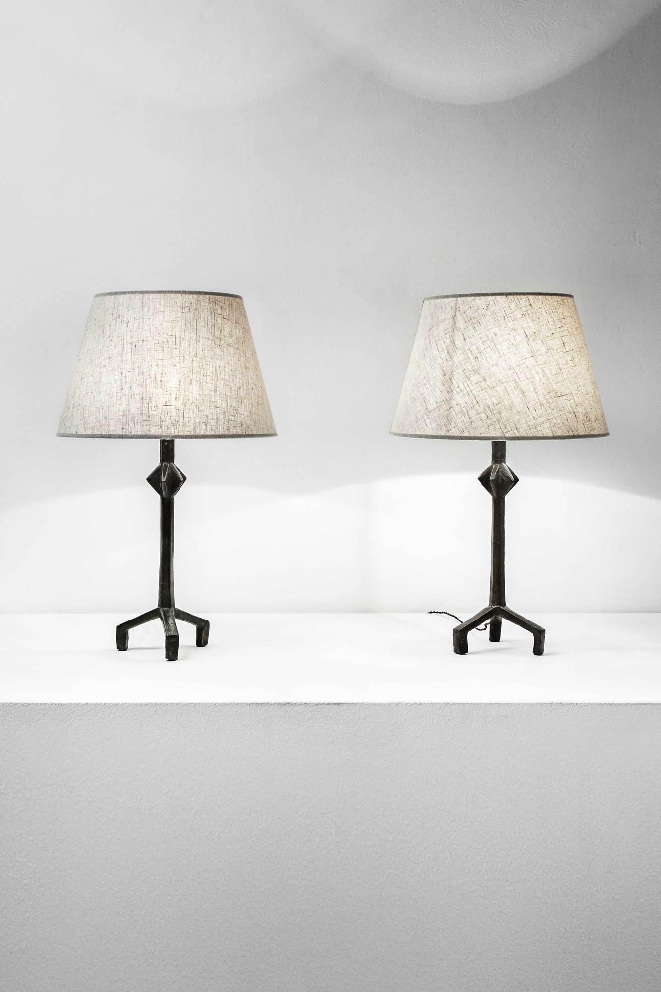 Alberto Giacometti, Paire de lampes «Etoile», vue 01
