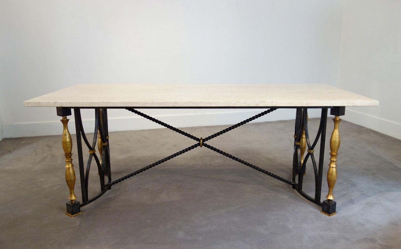 Gilbert Poillerat, Table de milieu, vue 01