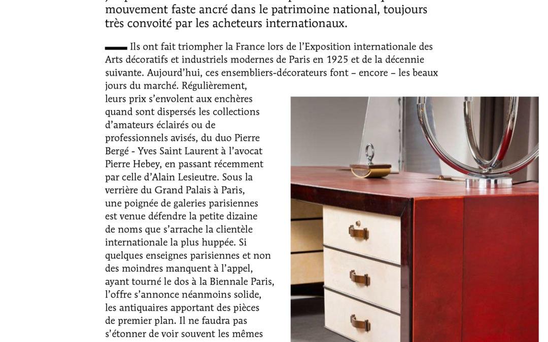 """Le Quotidien de l'Art, mercredi 6 septembre 2017, """"Hissez Haut l'Art déco"""", La Biennale Paris"""