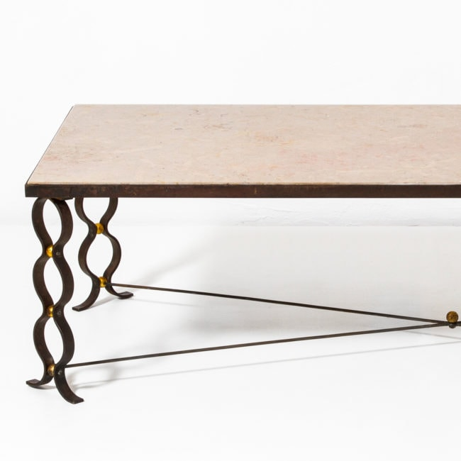 "Jean Royere, Table basse ""ruban"""