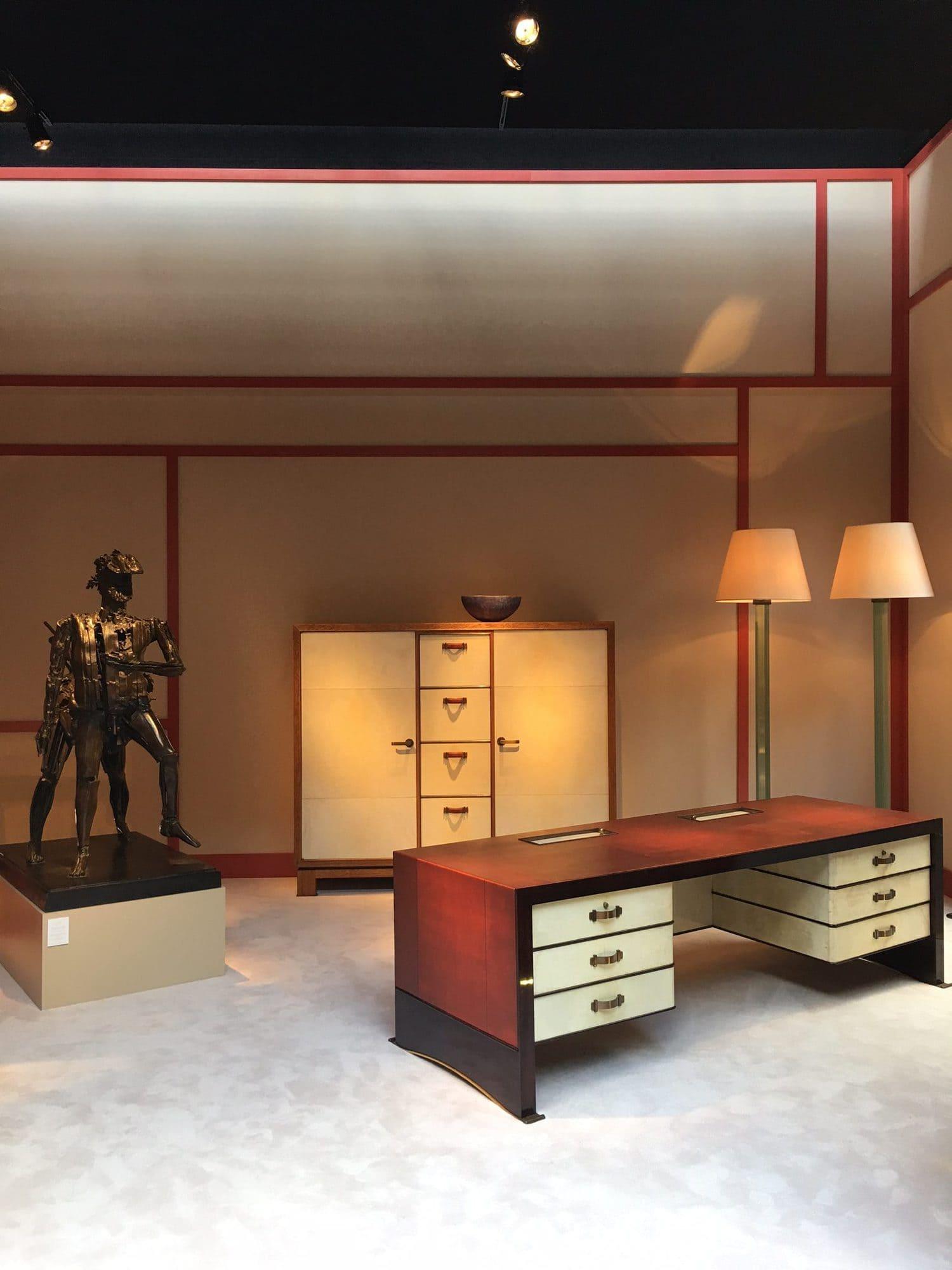 La Biennale Paris, La biennale des antiquaires, galerie Chastel-Maréchal, Cesar, Paul Duprès-Lafon, jean Michel Frank , art décoratif, design, post war design
