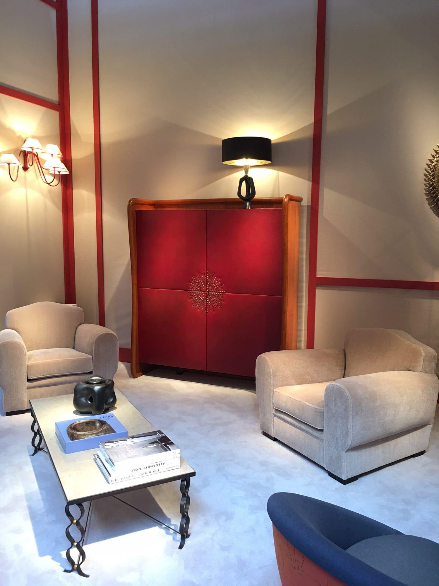 La galerie Chastel Maréchal, la Biennale 2017, la biennale des antiquaires, postwar design, art décoratif, Jean Royère, André Arbus, Geroges Jouve