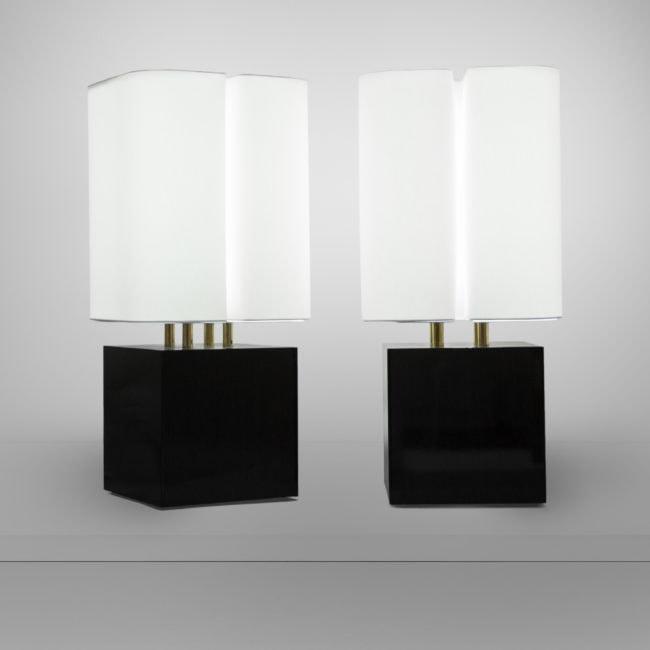 Michel Boyer, Paire de lampes «Brasilia» (vendue)