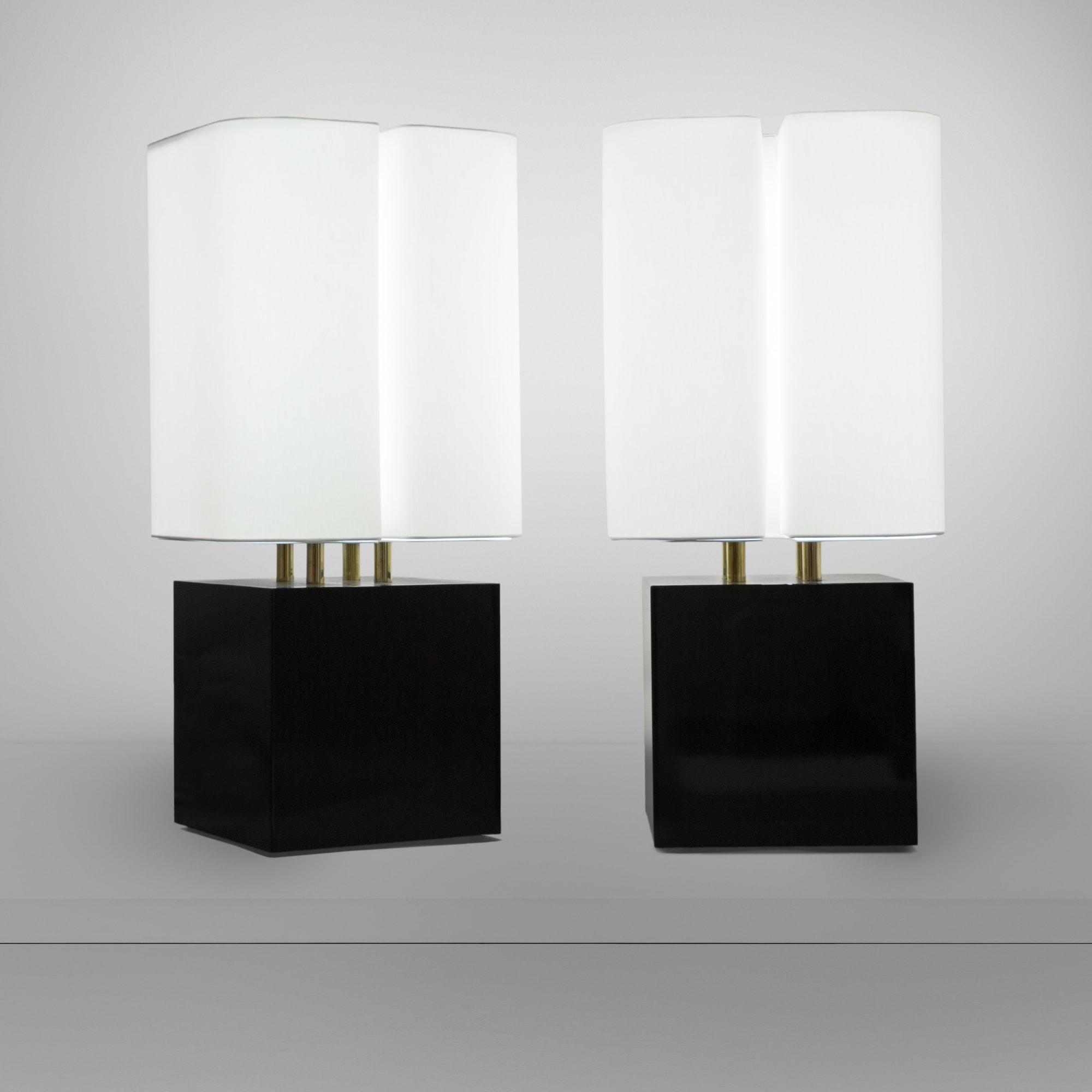 "Michel Boyer, ""Brasilia"" pair of lamps (sold), vue 01"