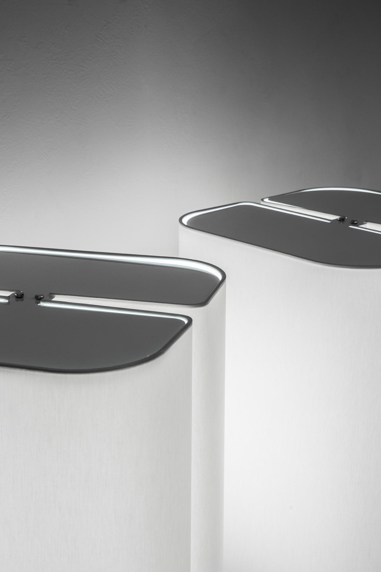 "Michel Boyer, ""Brasilia"" pair of lamps (sold), vue 02"