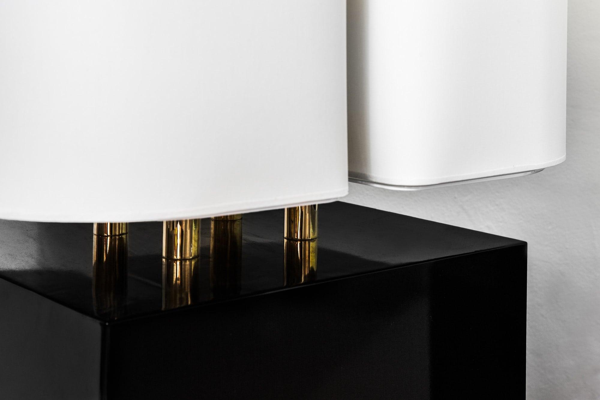 "Michel Boyer, ""Brasilia"" pair of lamps (sold), vue 03"