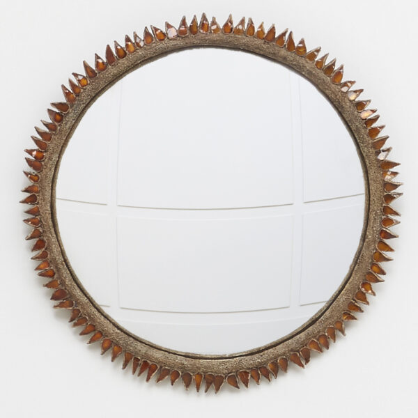 "Line Vautrin, ""Flammes"" mirror"