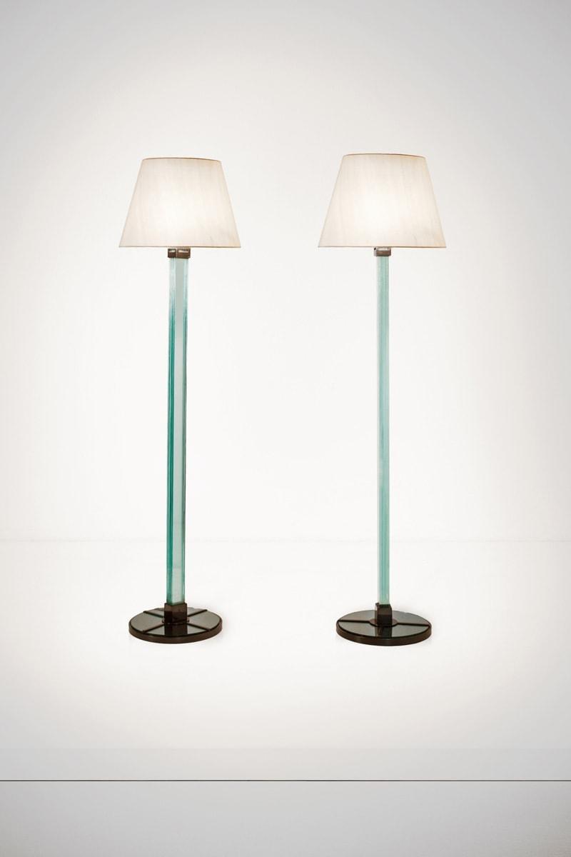 Jean-Michel Frank, Paire de lampadaires (vendue), vue 01