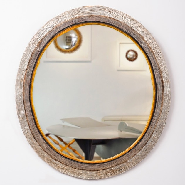Line Vautrin, Rare oval mirror (Sold)