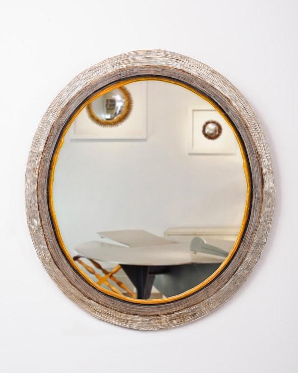 Line Vautrin, Rare miroir ovale (Vendu), vue 01