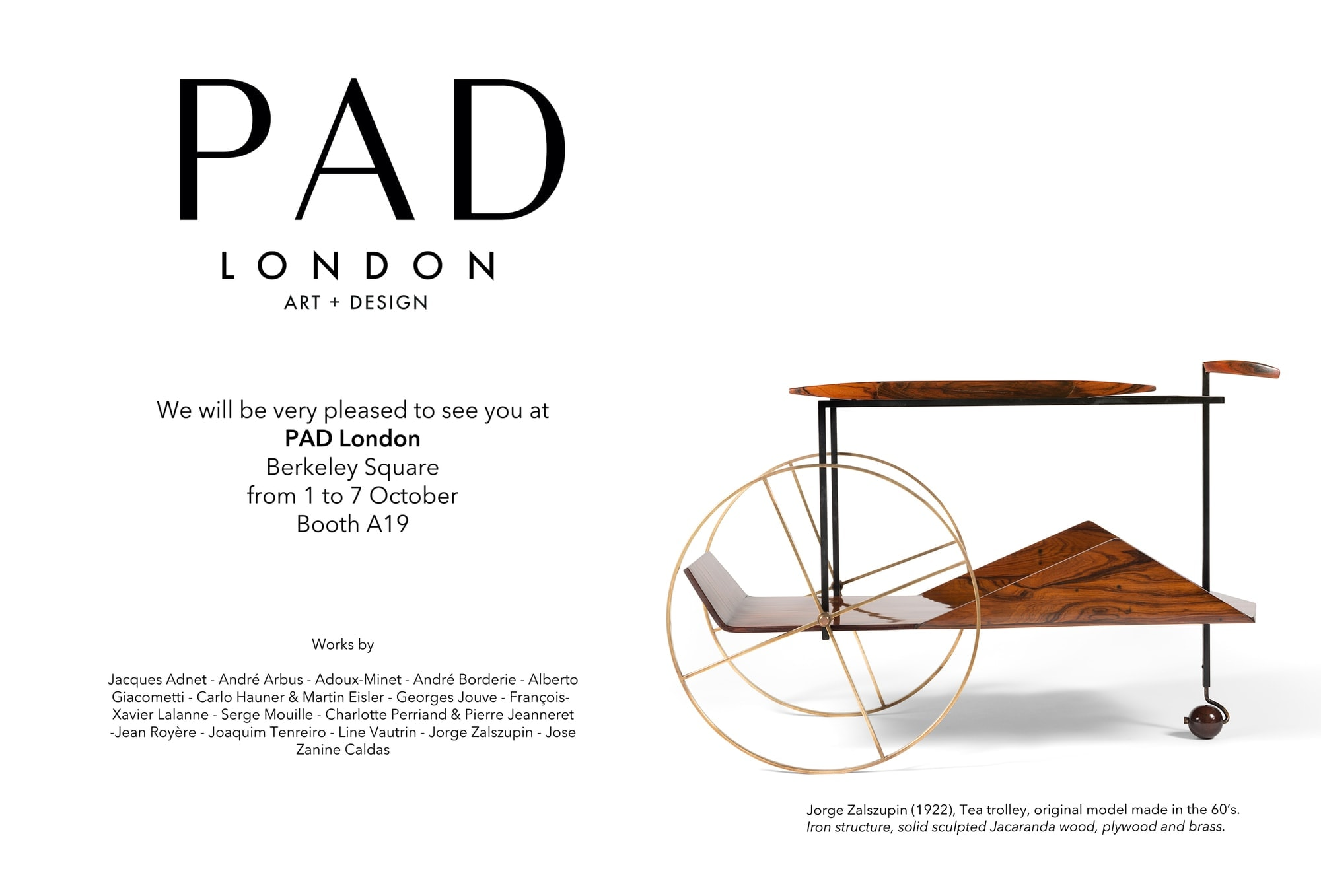 PAD London, from 1 to 7 October, 2018