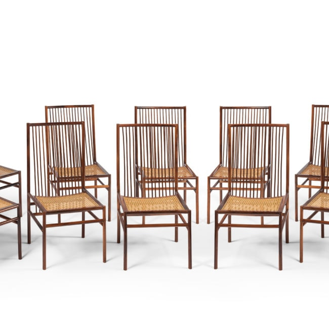 "Joaquim Tenreiro, Set of 12 chairs ""Estrutural"" (sold)"