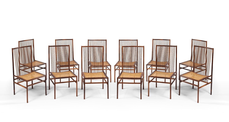 Joaquim Tenreiro, Ensemble de douze chaises «Estrutural» (vendu), vue 02