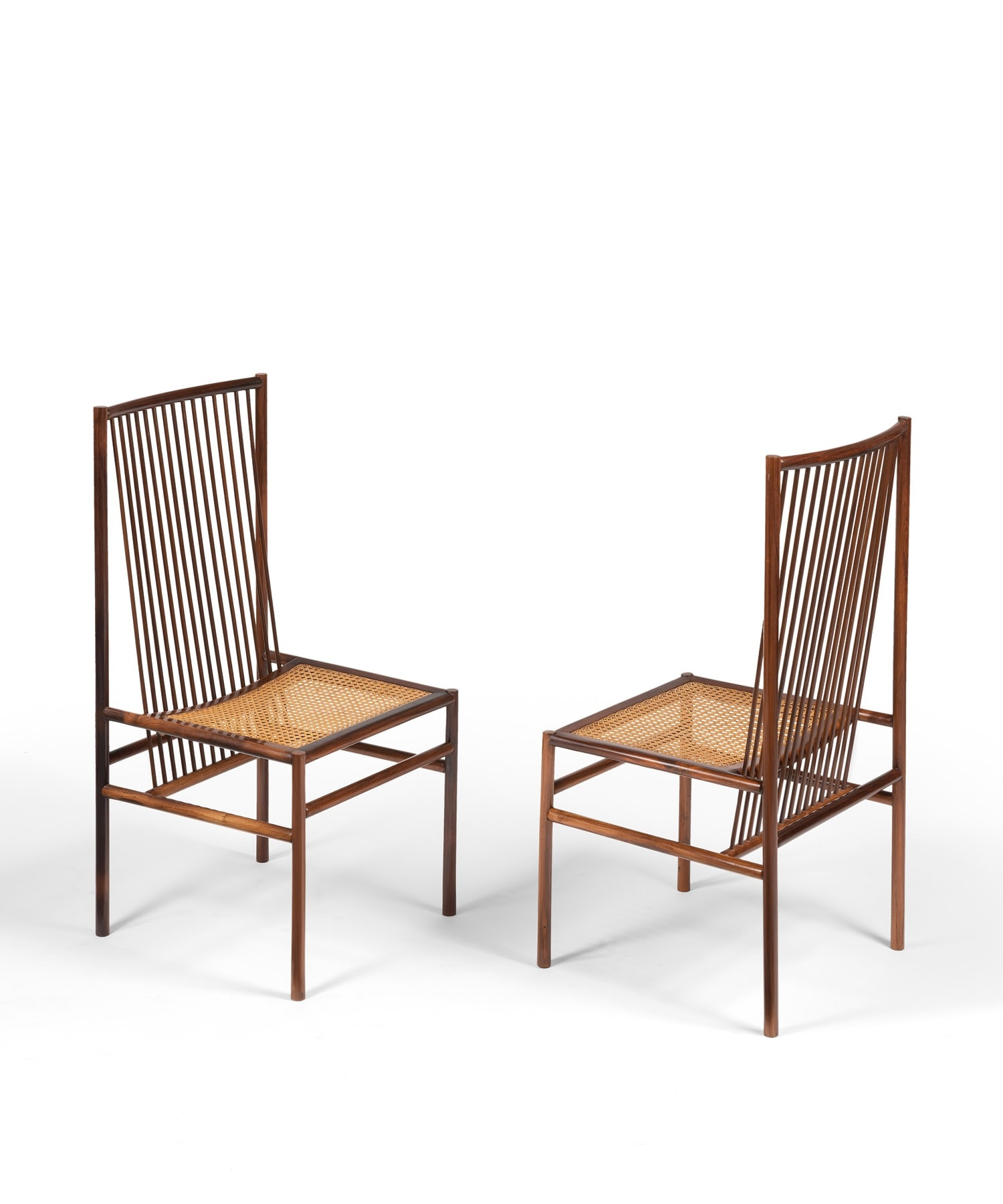 Joaquim Tenreiro, Ensemble de douze chaises «Estrutural» (vendu), vue 01