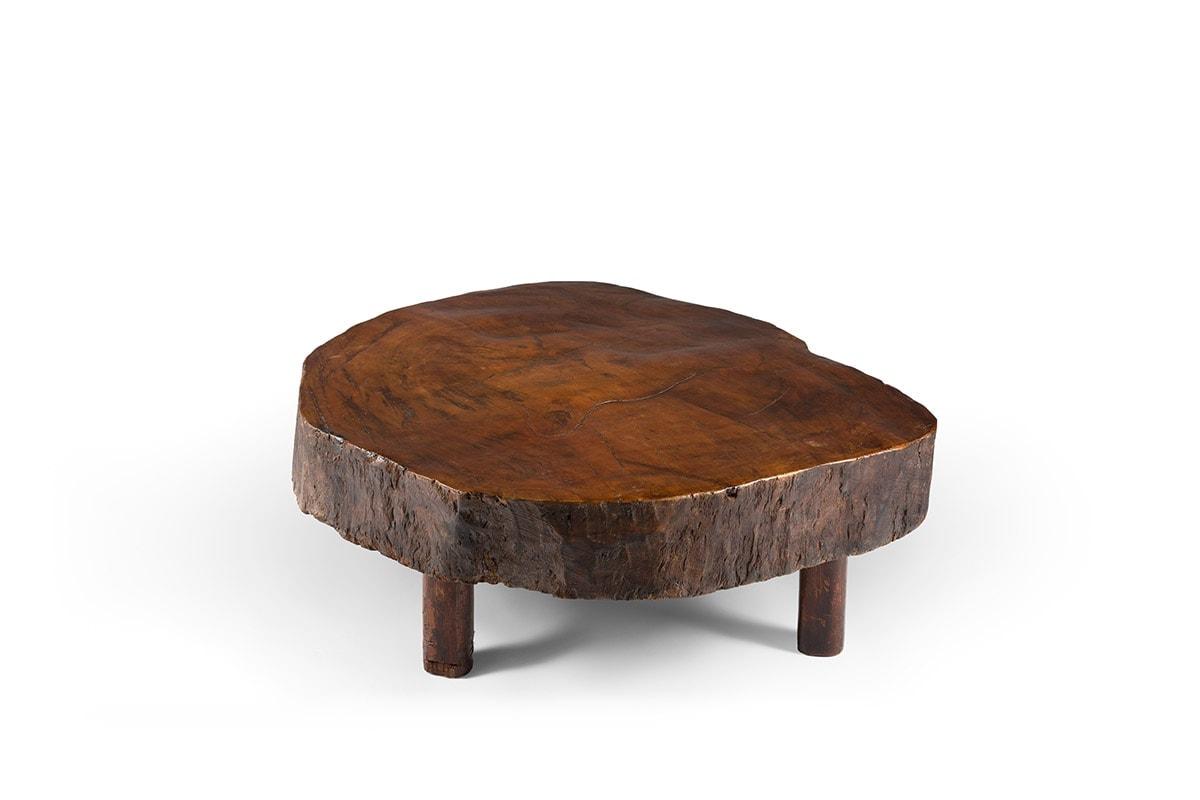 Joaquim Tenreiro, Table Basse Tronc (vendue), vue 01