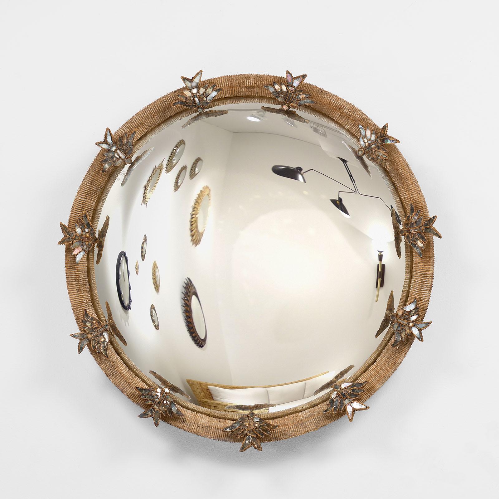 "Line Vautrin, Rare ""Alouettes"" mirror (sold), vue 01"