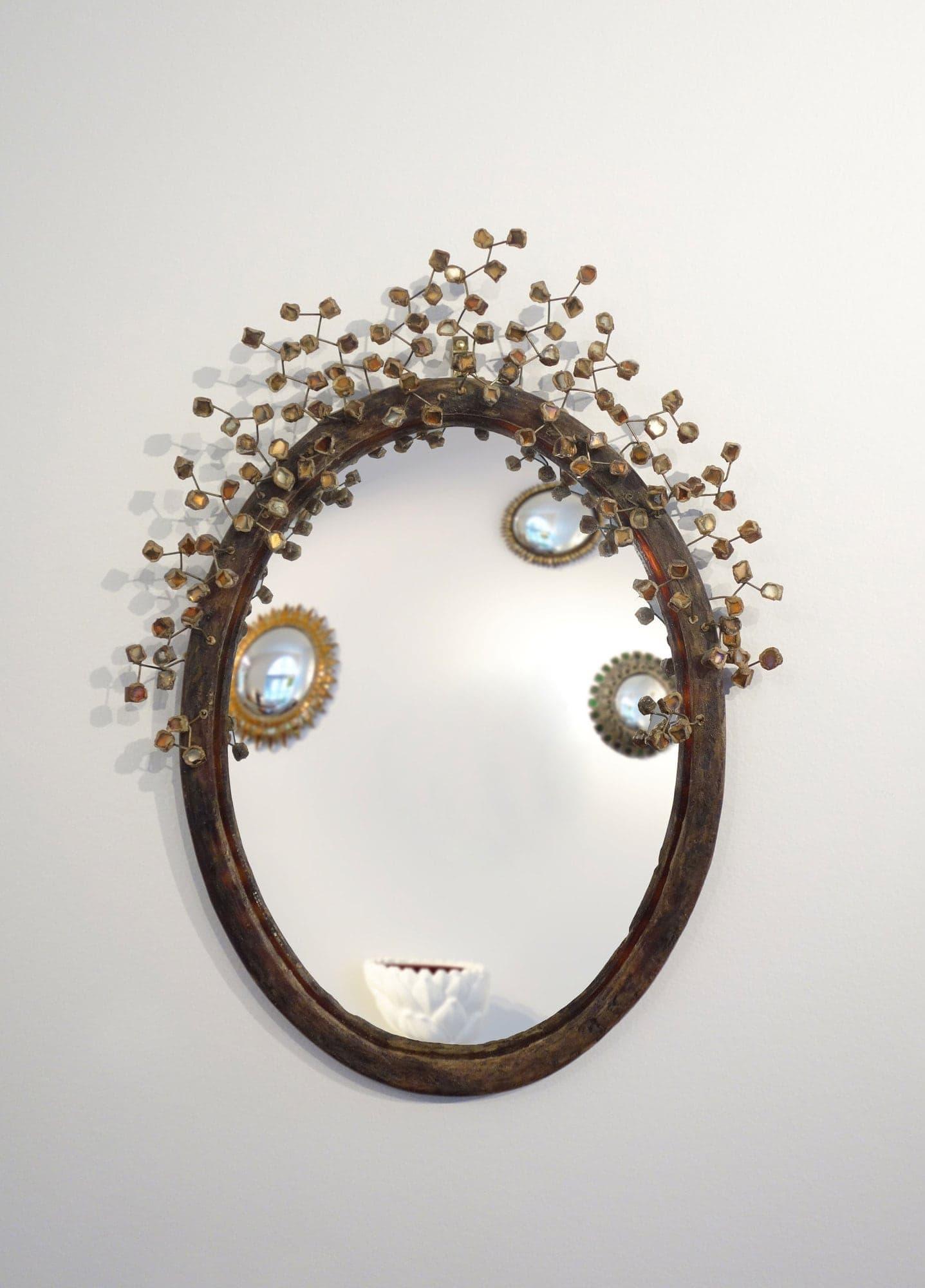 "Line Vautrin, Rare miroir ""Perruque"" (vendu), vue 01"