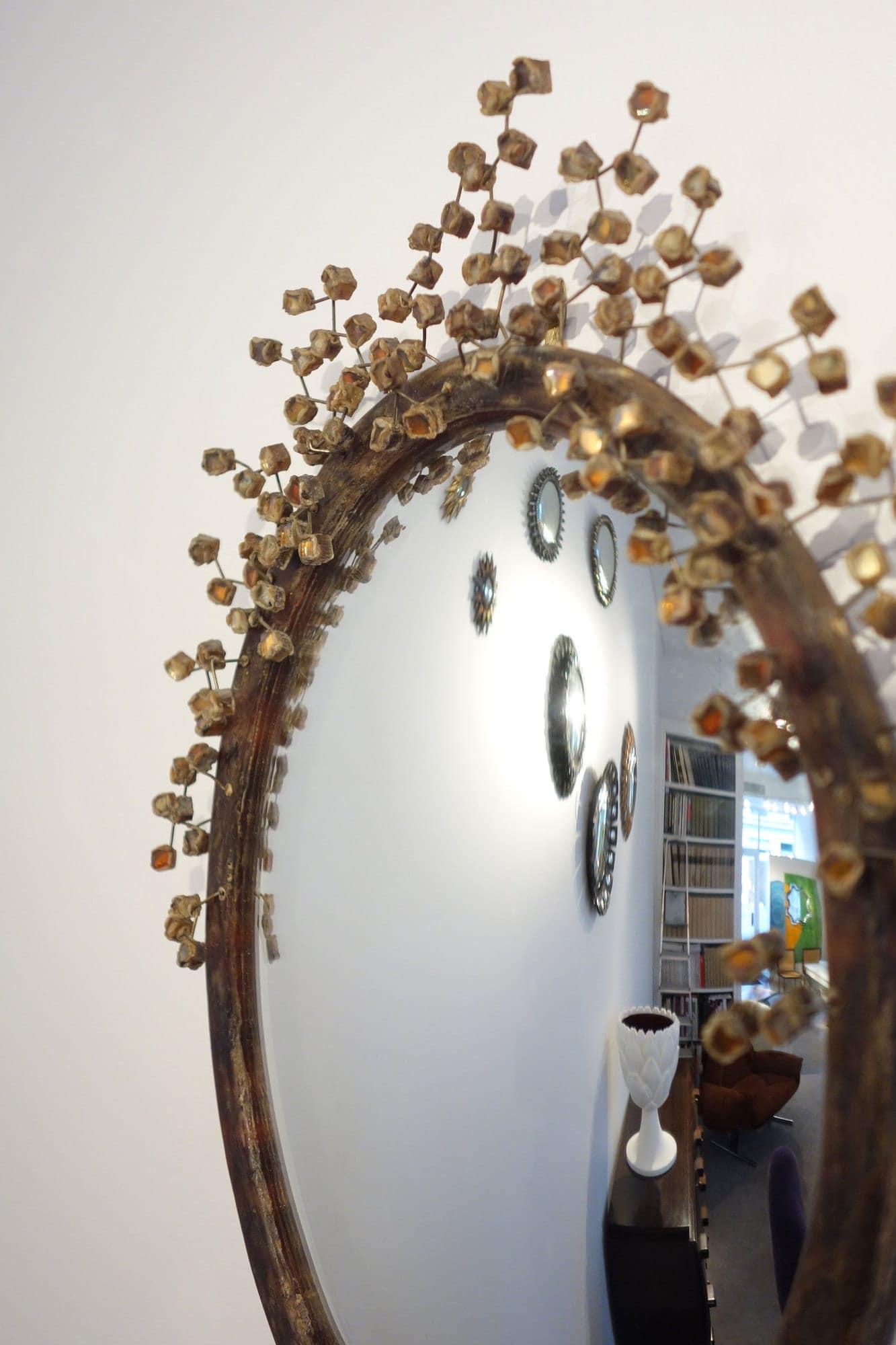 "Line Vautrin, Rare miroir ""Perruque"" (vendu), vue 02"