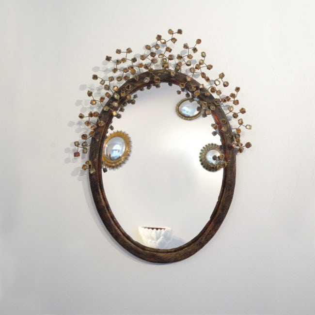 Line Vautrin, Rare miroir «Perruque» (vendu)