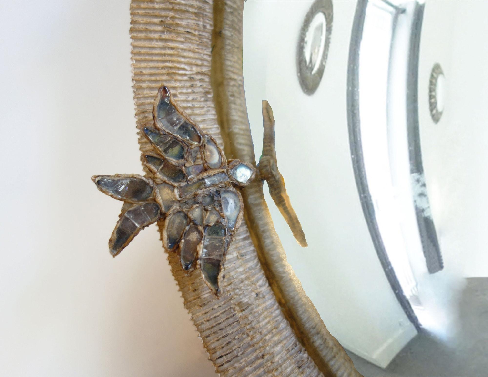 "Line Vautrin, Rare ""Alouettes"" mirror (sold), vue 02"