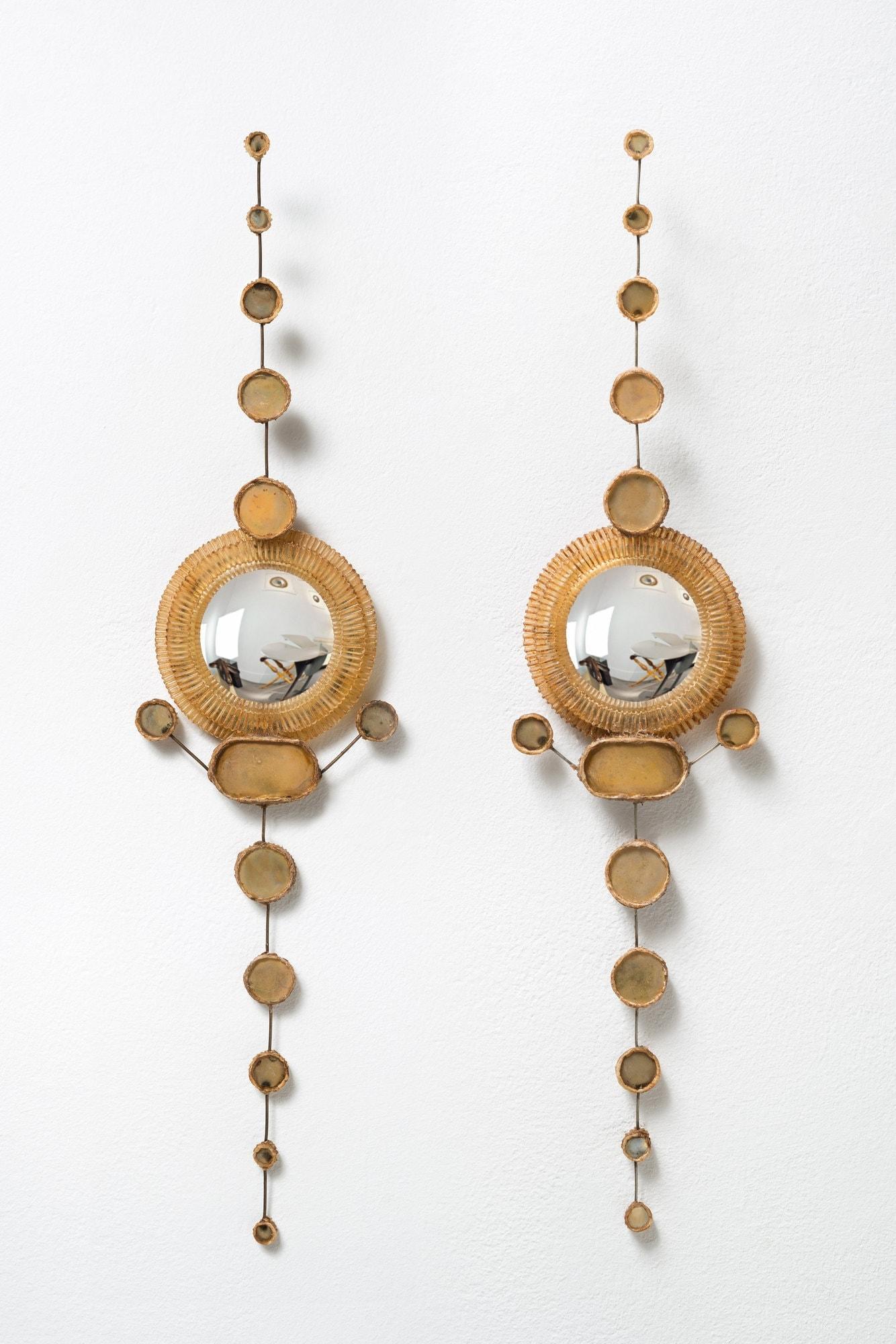 Line Vautrin, Rare paire de miroirs (vendue), vue 01