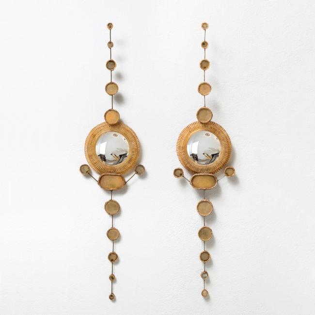 Line Vautrin, Rare paire de miroirs (vendue)