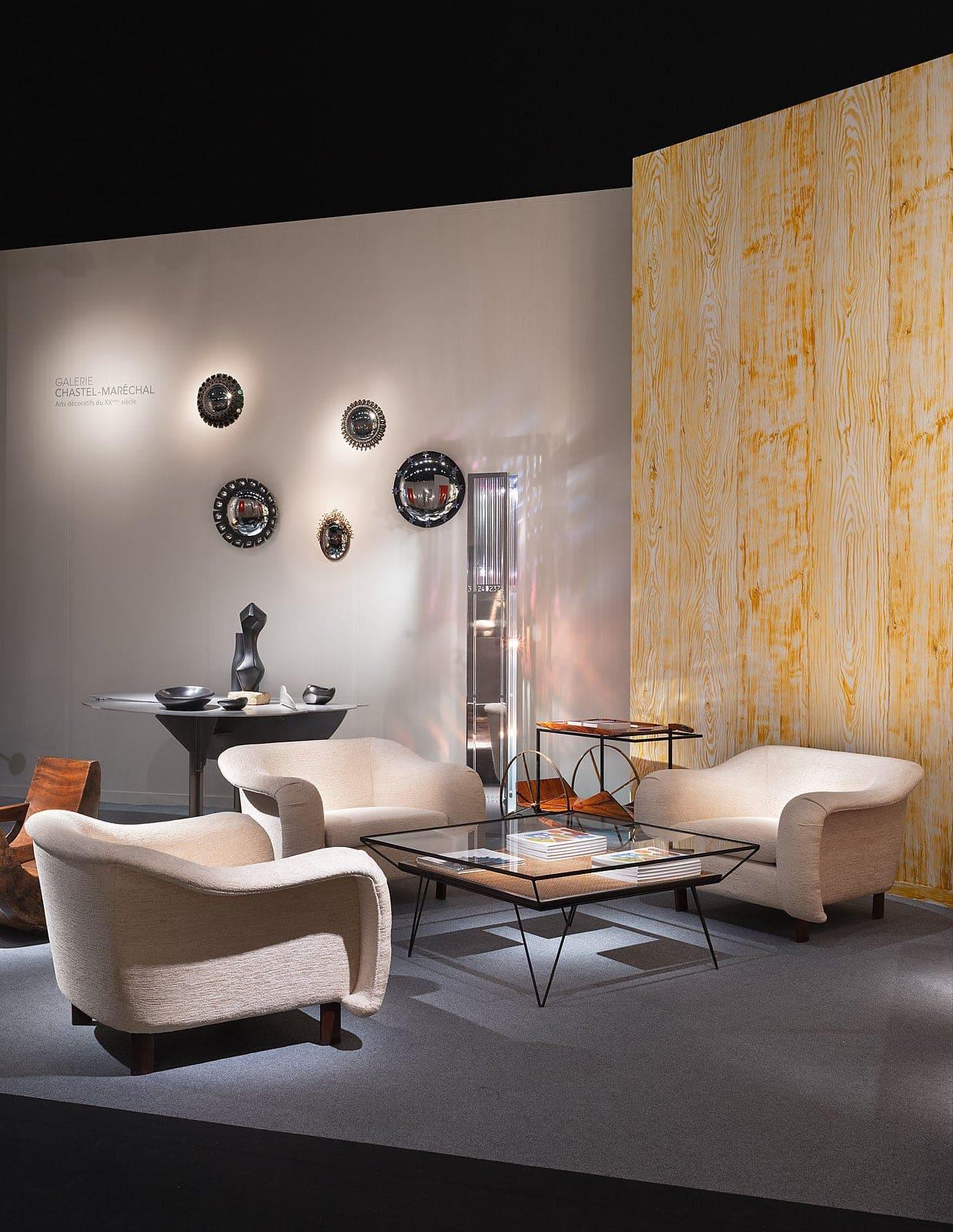 Joaquim Tenreiro, Suite de trois fauteuils, vue 01