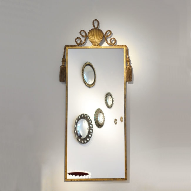 Gilbert Poillerat, Important and rare mirror (sold)