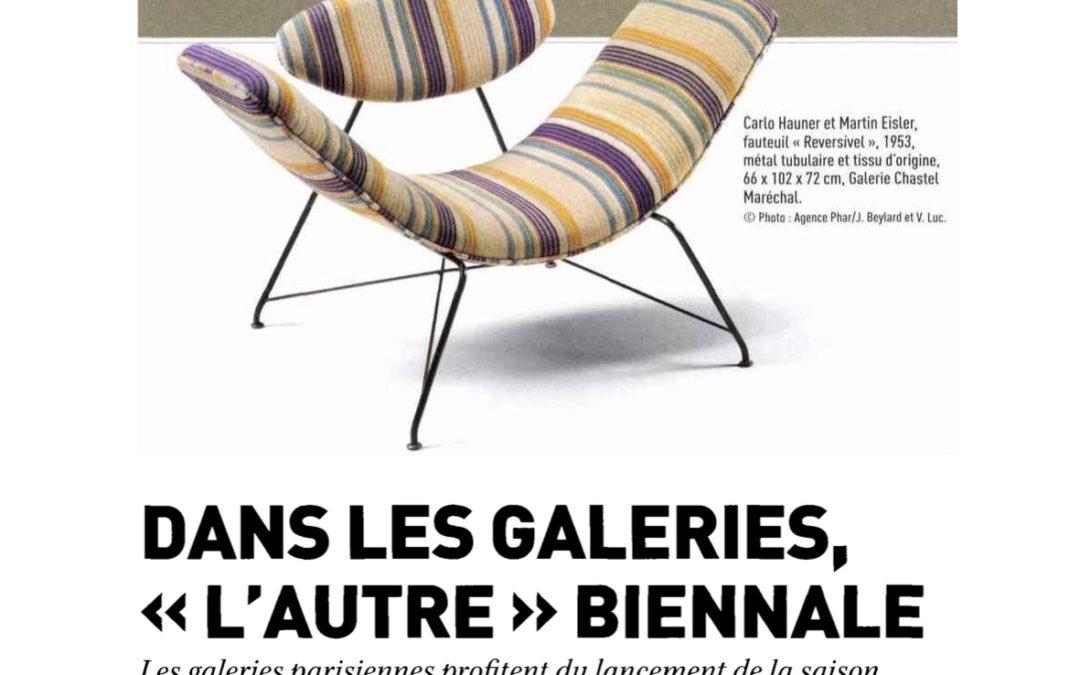 """Le journal des arts – Dans les galeries, """"l'autre"""" Biennal – Septembre 2018"""