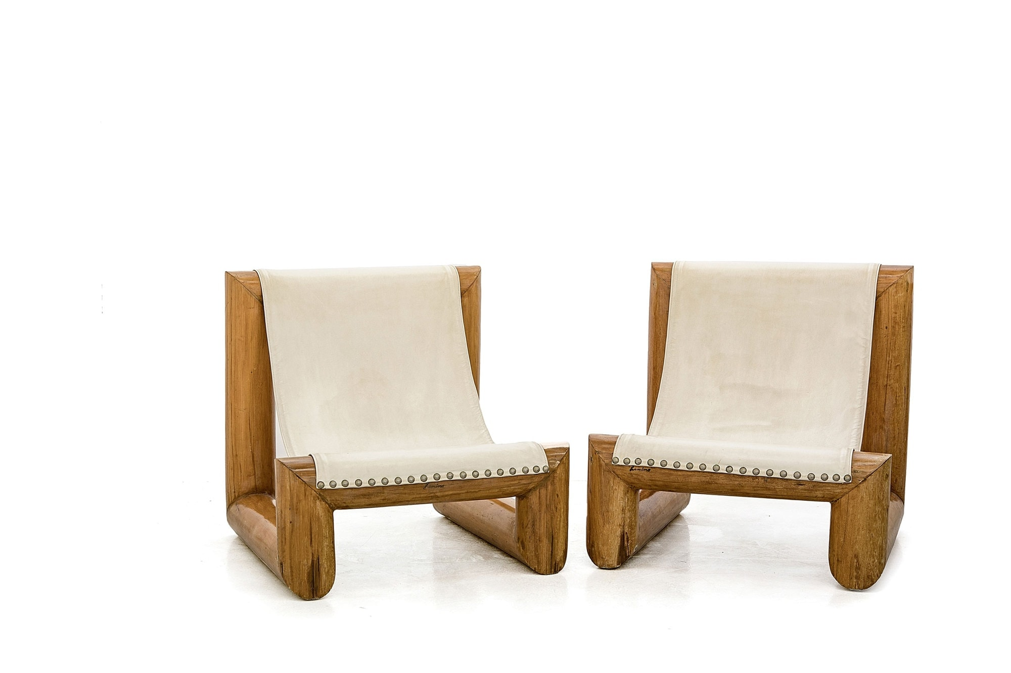 Jose Zanine Caldas, Très rare paire de sièges 'Tronco' (vendue), vue 01