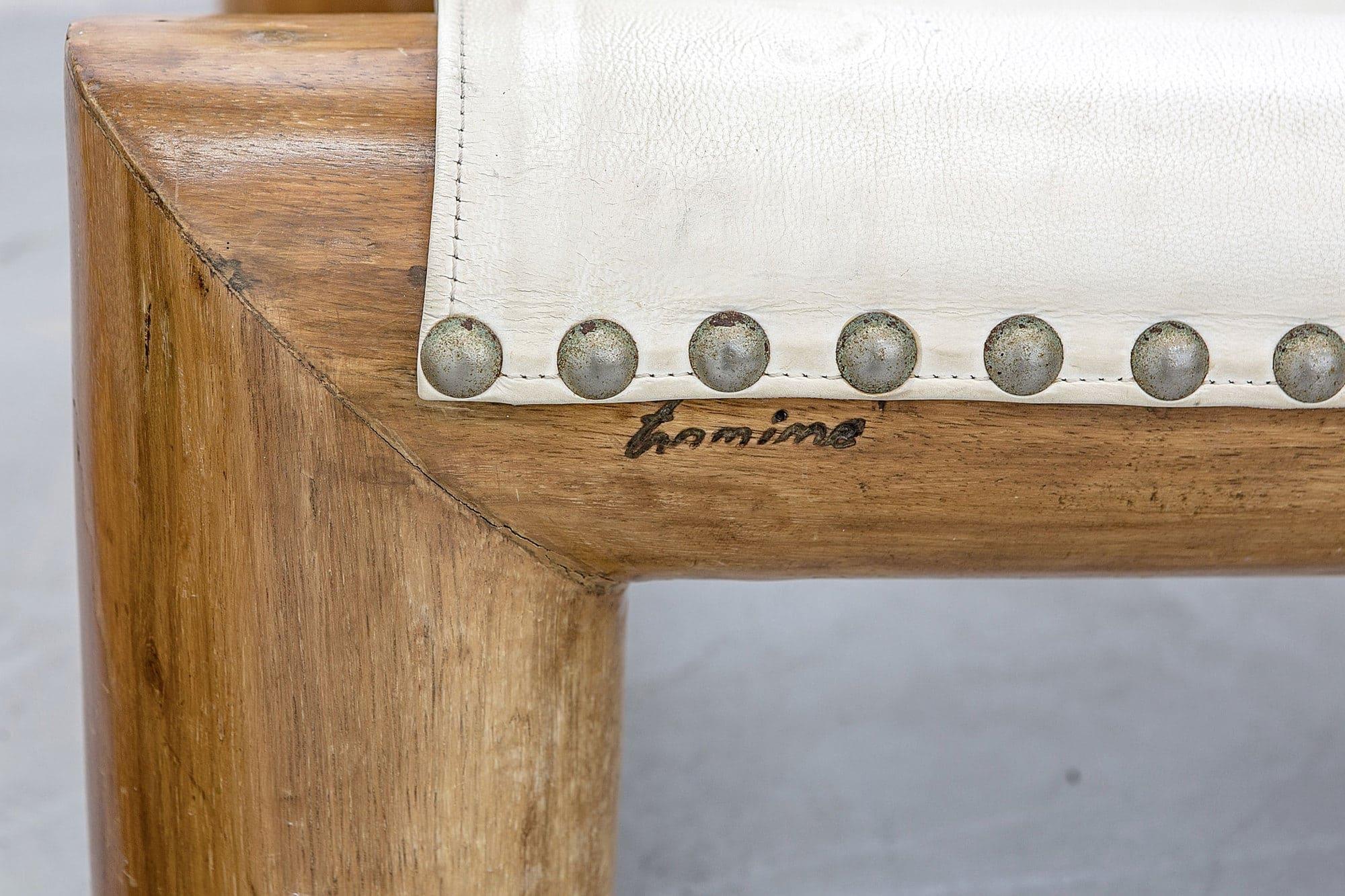 Jose Zanine Caldas, Très rare paire de sièges 'Tronco' (vendue), vue 02