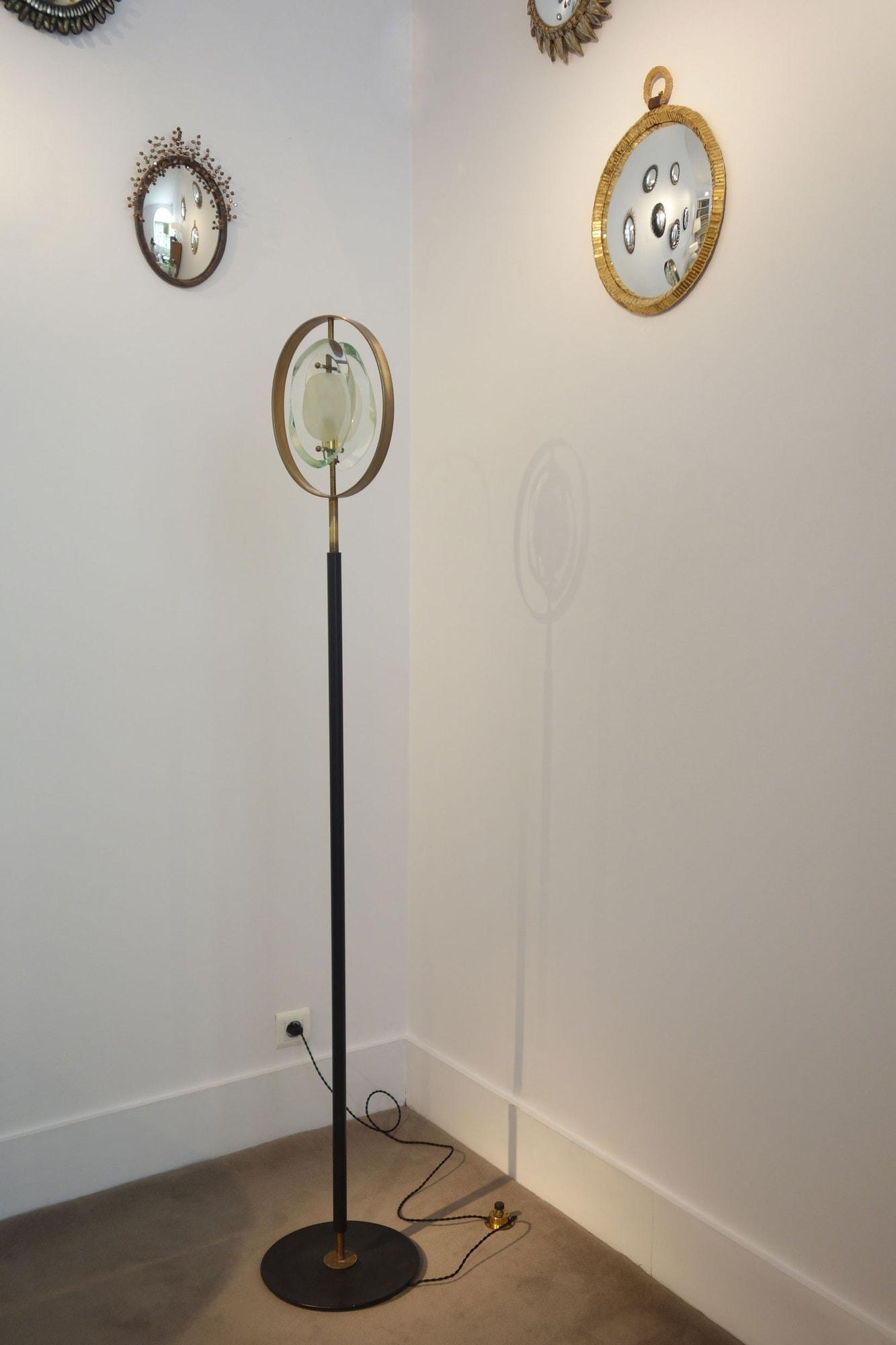 Max Ingrand, «Micro» floor lamp, model 2020, Fontana Arte edition (sold), vue 01