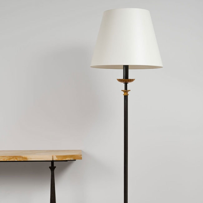 Gilbert Poillerat, Rare floor lamp (sold)