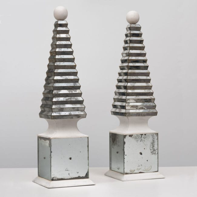 Serge Roche, Tall and rare pair of obelisks