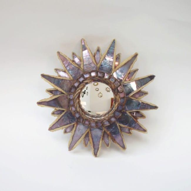 Line Vautrin, Miroir « Soleil à pointes n°0» (vendu)