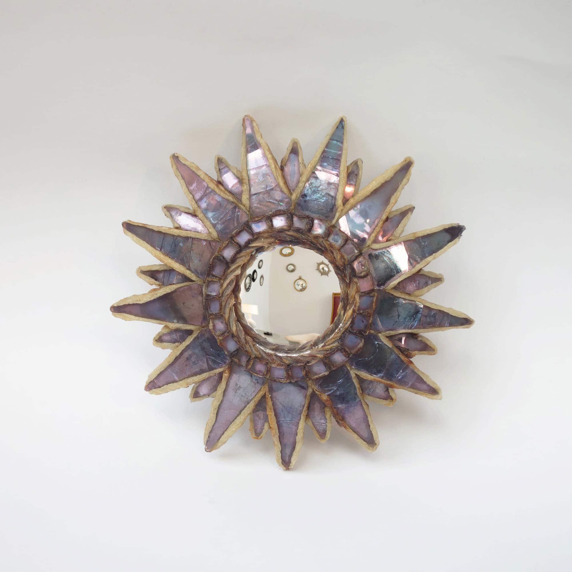 Line Vautrin, Miroir « Soleil à pointes n°0» (vendu), vue 01