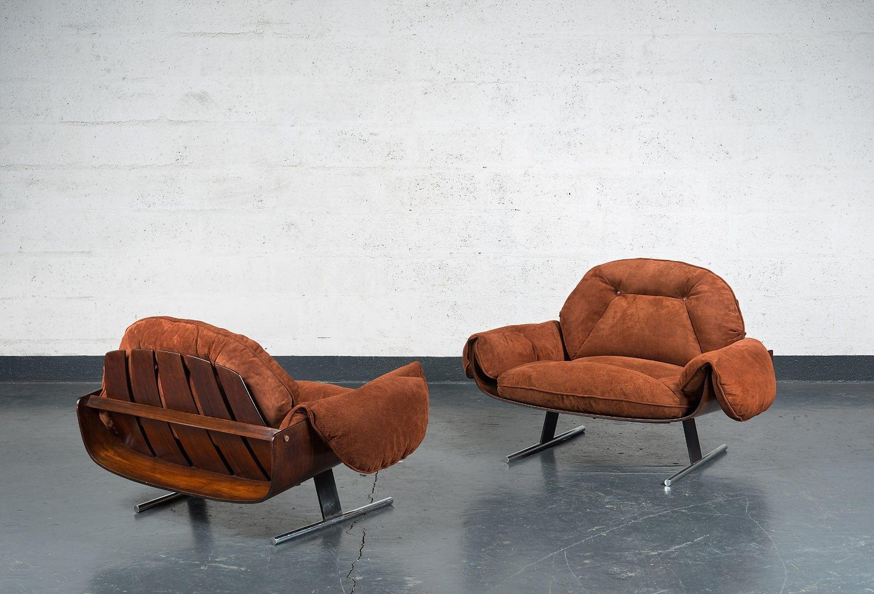 """Jorge Zalszupin, Paire de fauteuils """"Presidencial"""", vue 02"""