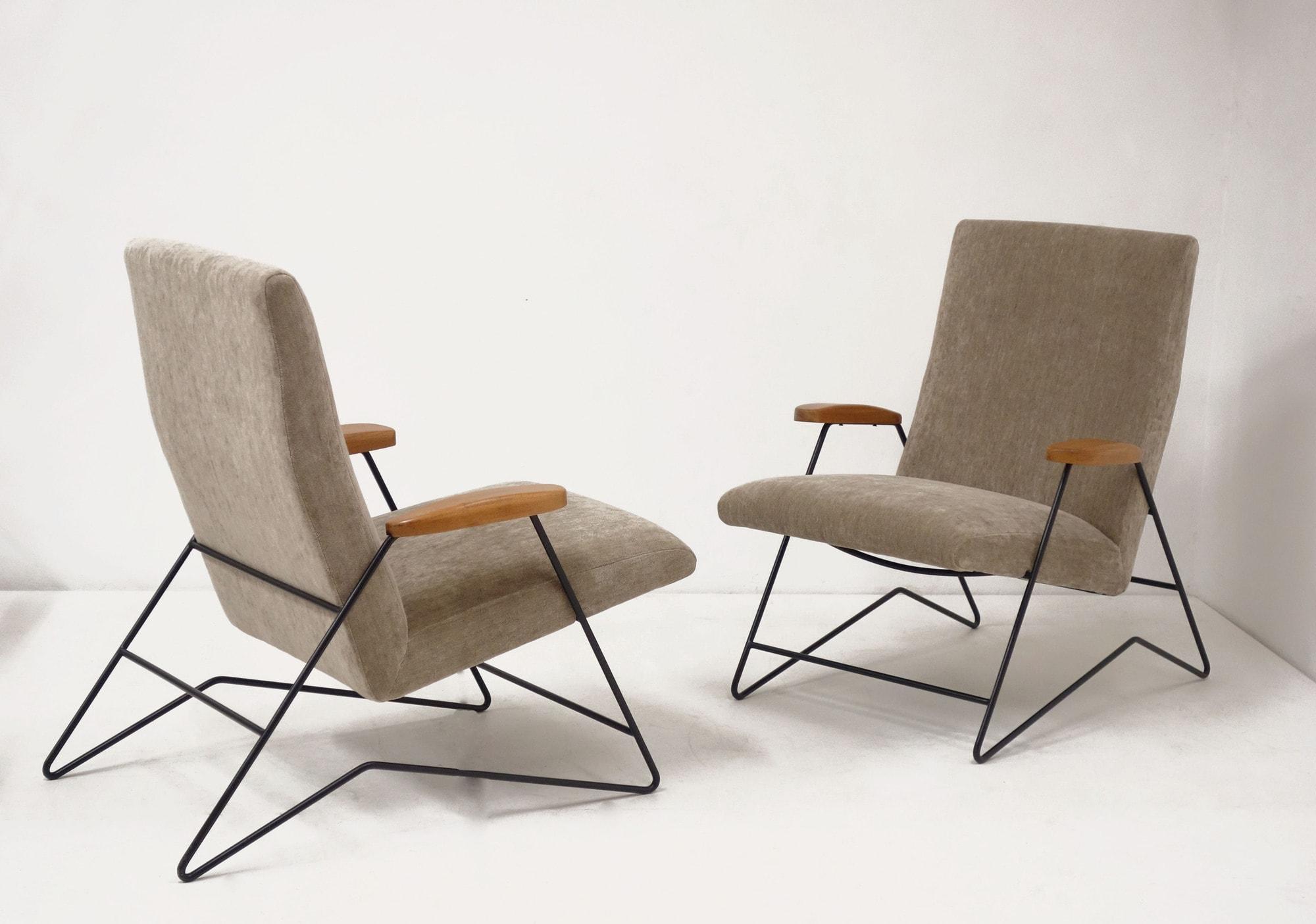 Carlo Hauner & Martin Eisler, Pair of armchairs, vue 02