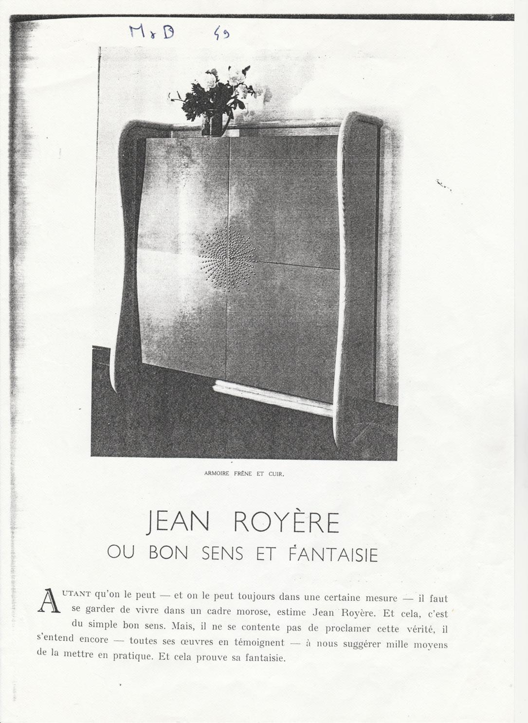 Jean Royère, Rare et élégant cabinet, vue 06