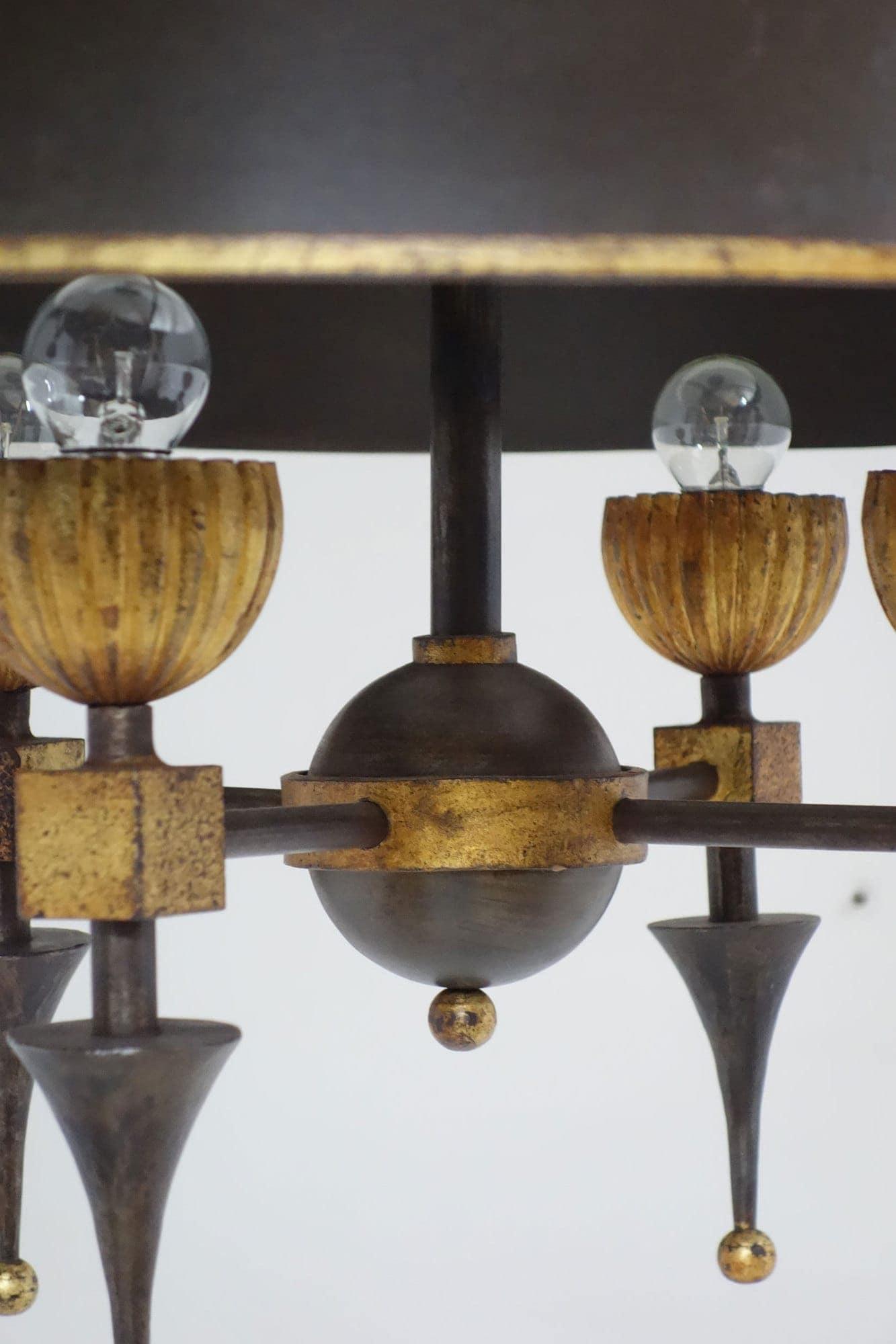 Gilbert Poillerat, Rare lustre, vue 03