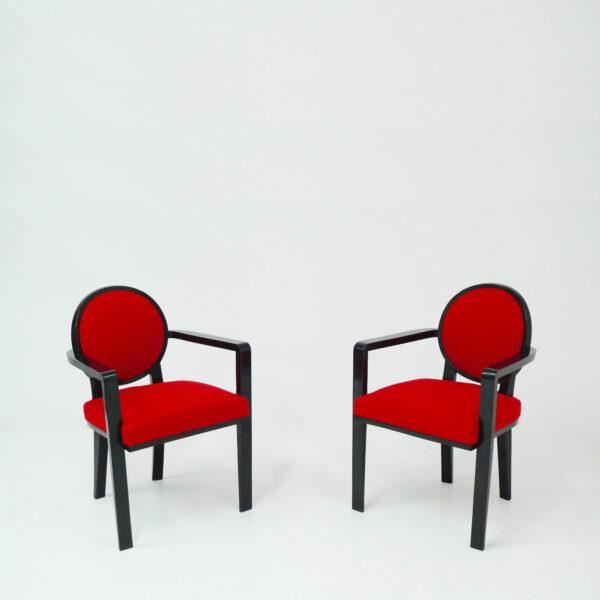 Jean Royère, « Drouant » armchairs
