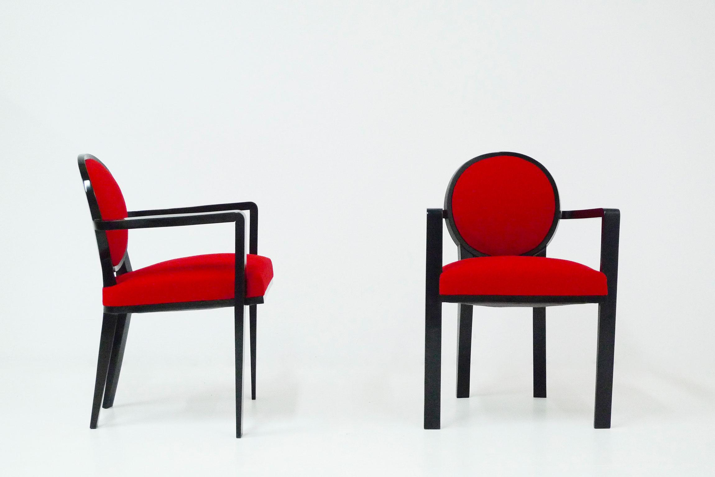 Jean Royère, « Drouant » armchairs, vue 01