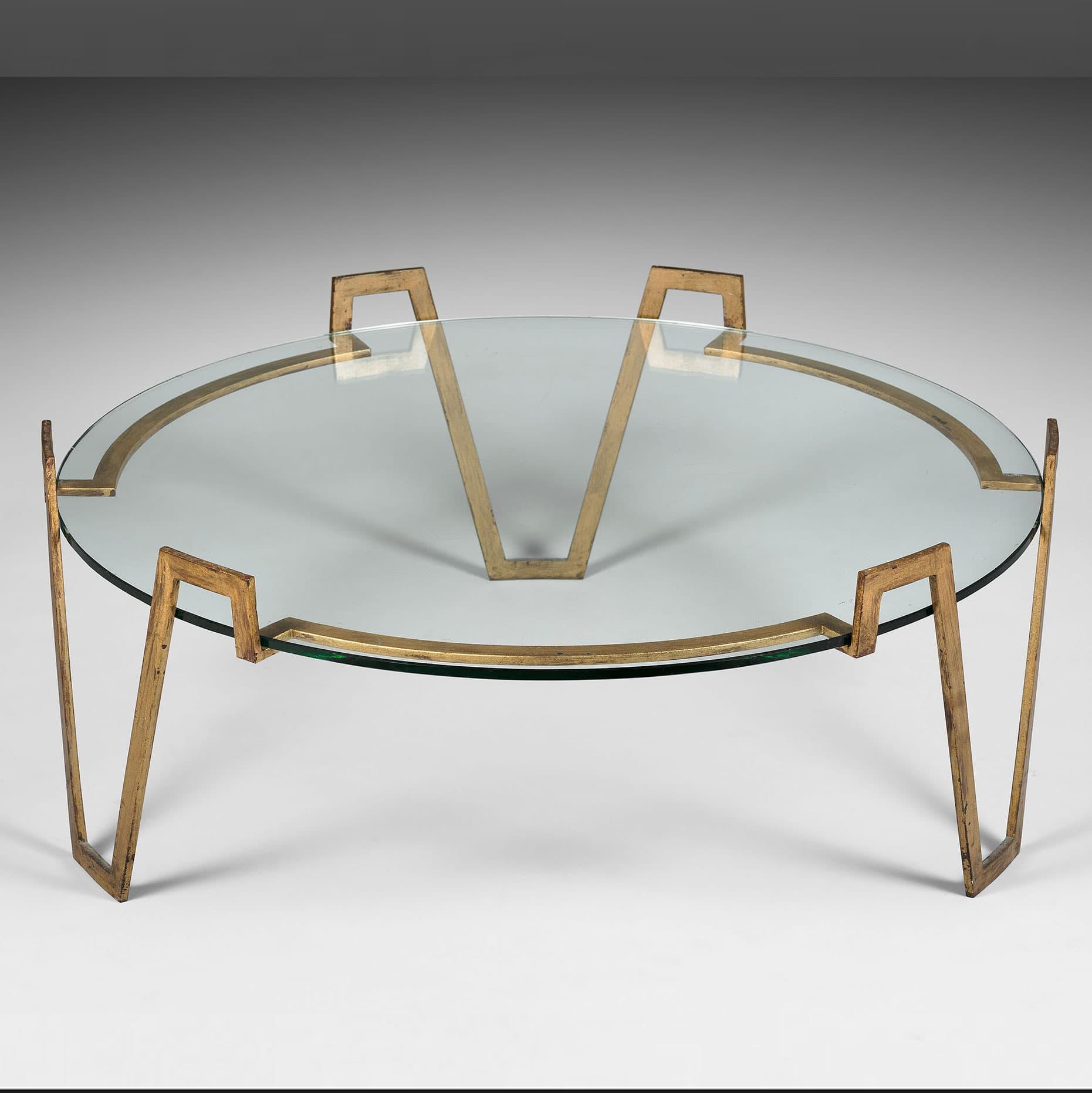 Jean Royère, Table basse « Val d'or » (vendue), vue 01