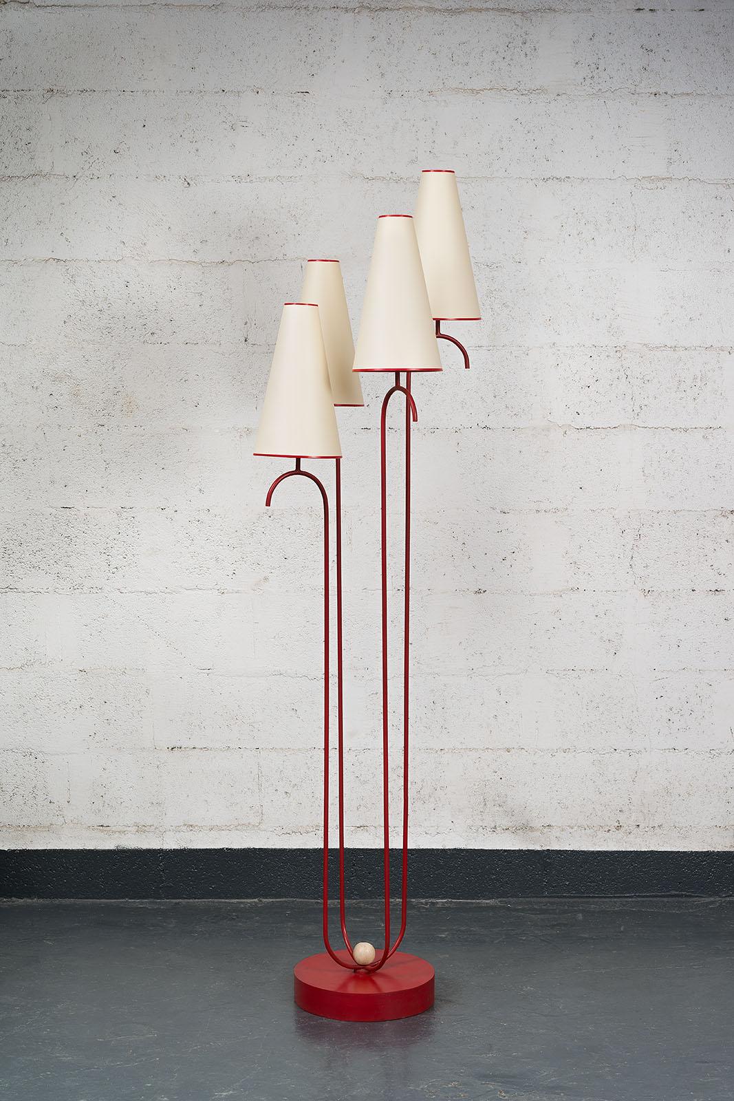 """Jean Royère, Rare lampadaire """"Jet d'eau"""" (vendu), vue 01"""