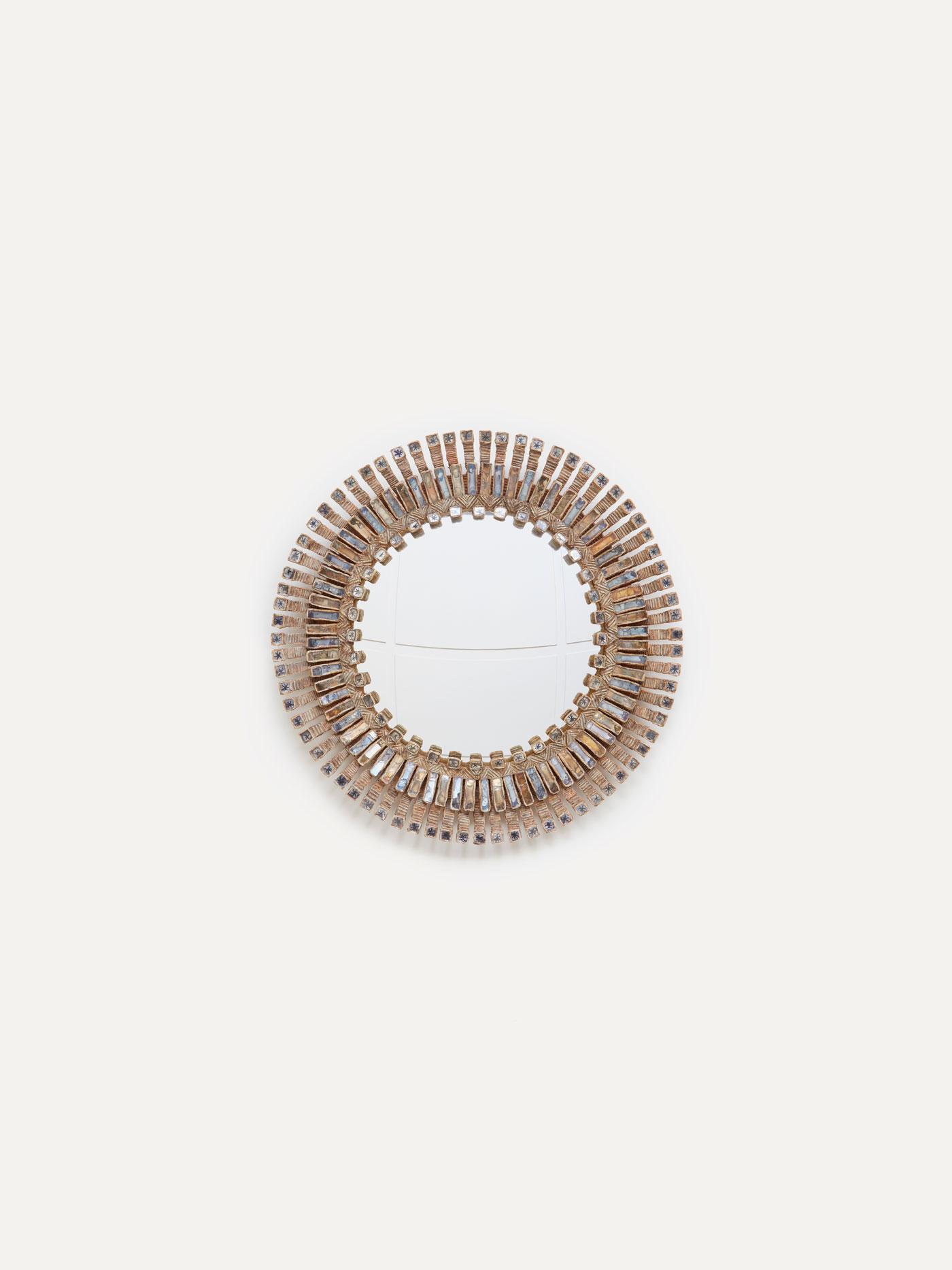"Line Vautrin, Grand miroir ""Romain"" étoilé, vue 01"