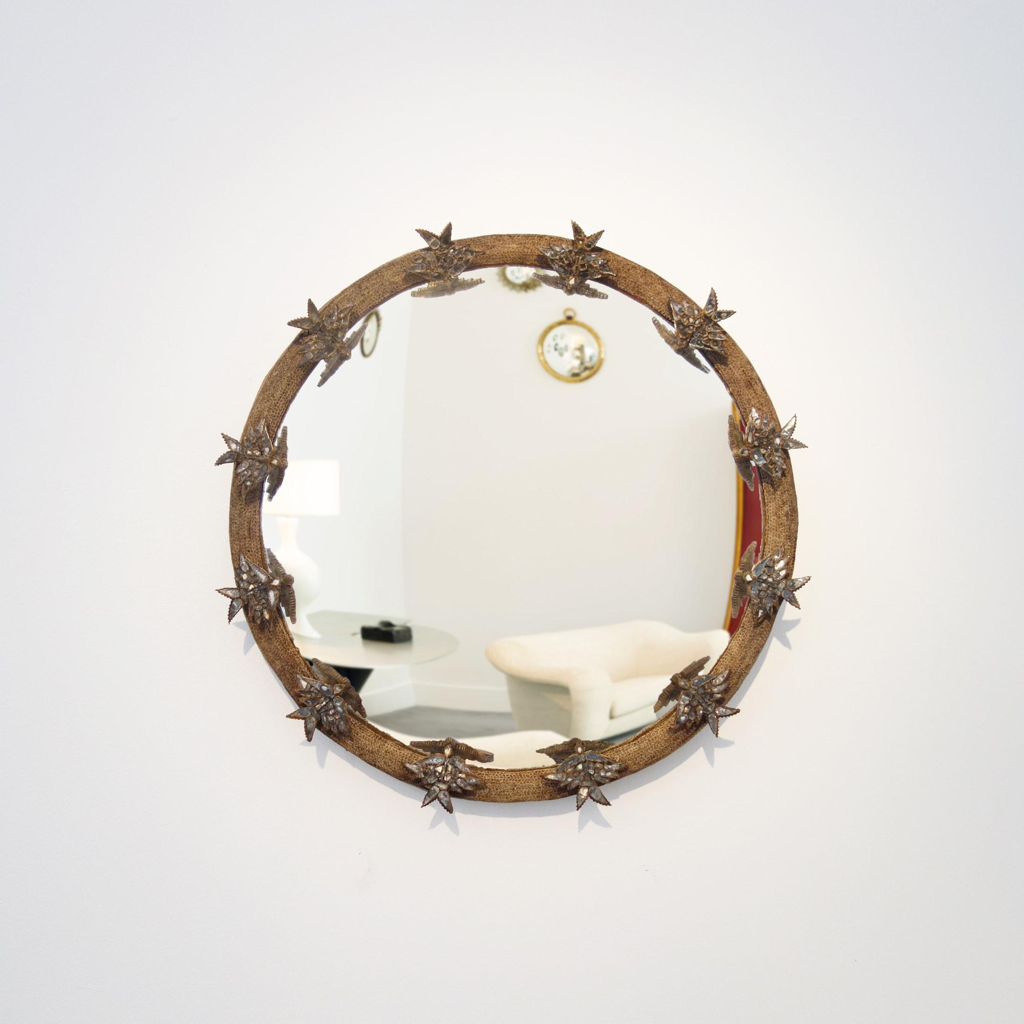 "Line Vautrin, Rare ""Alouette"" Mirror, vue 01"