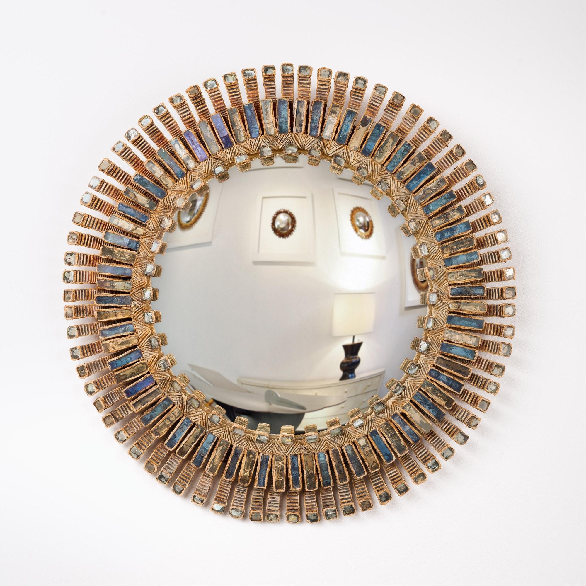 "Line Vautrin, Grand miroir ""Romain"" (vendu), vue 01"
