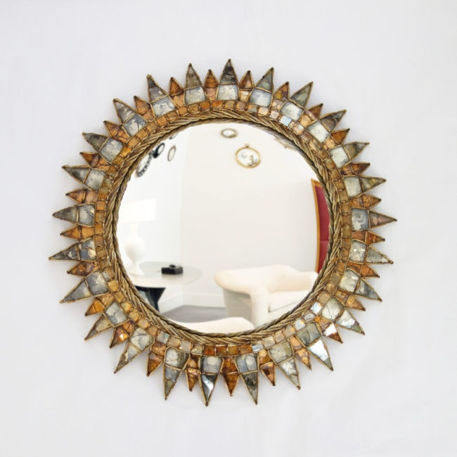 Line Vautrin, 'Soleil à pointes n°3' mirror