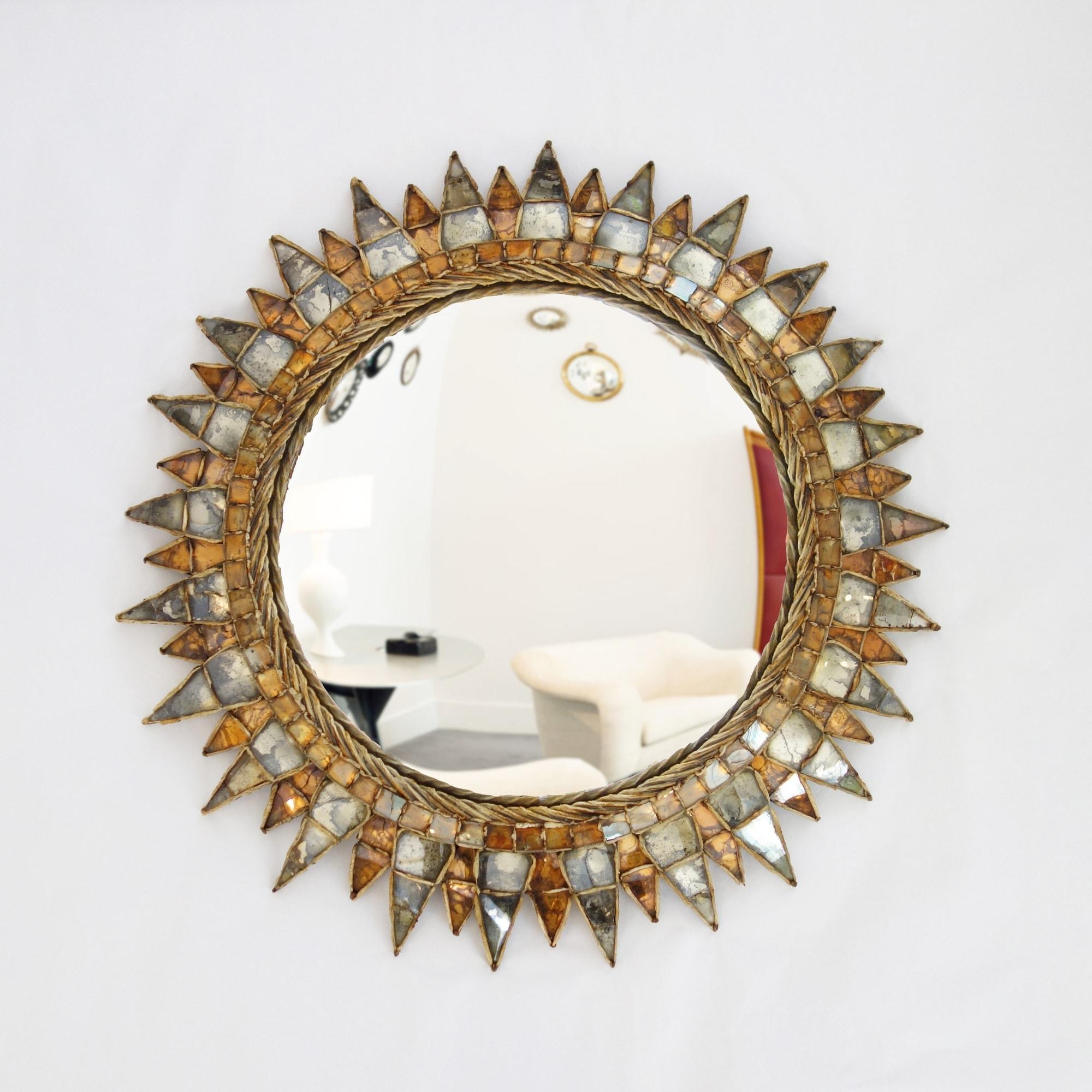 Line Vautrin, 'Soleil à pointes n°3' mirror, vue 01