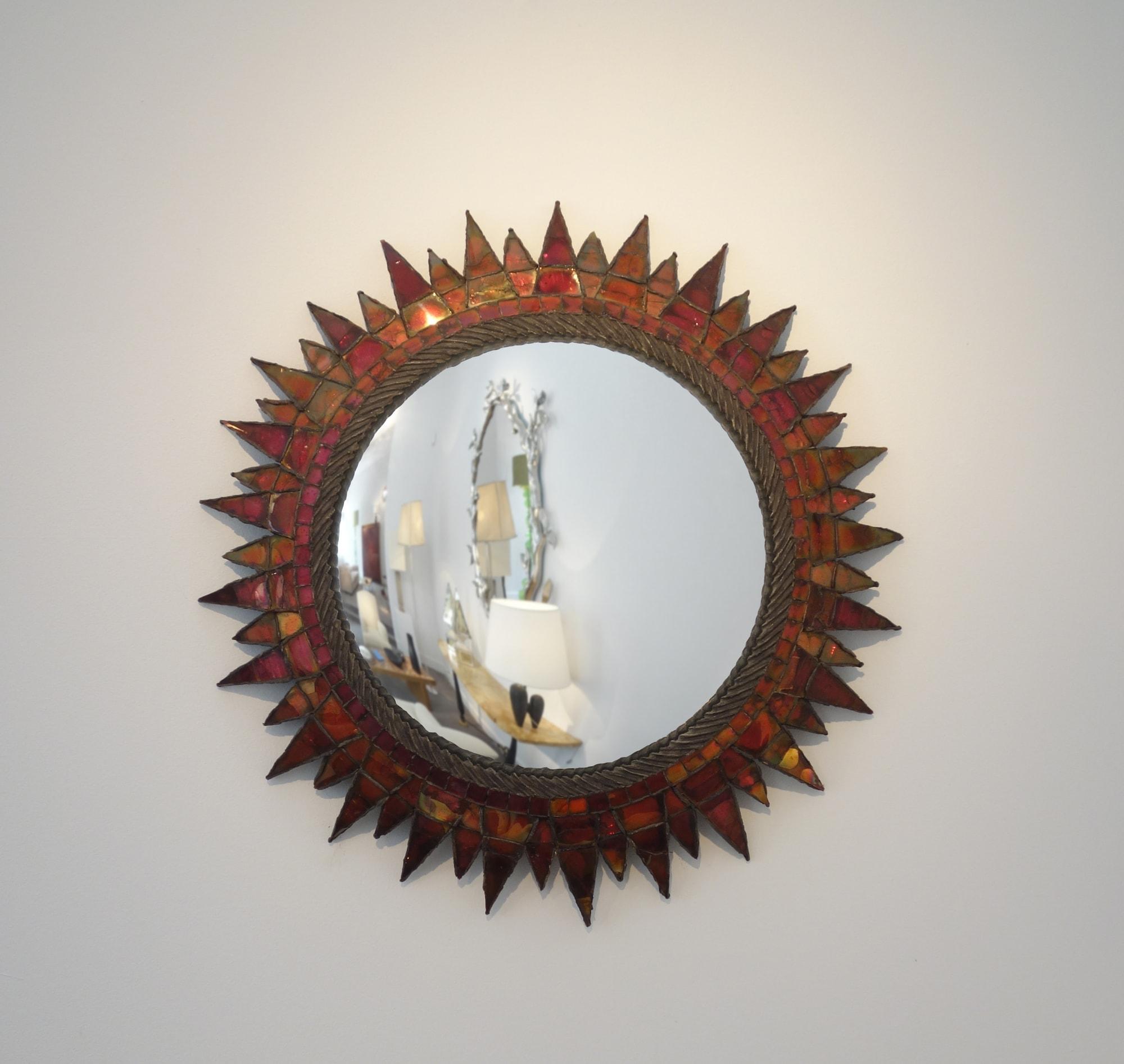 Line Vautrin, Miroir « Soleil à pointes n°3 » (vendu), vue 01